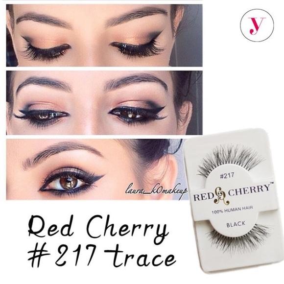 Makeup Red Cherry Eyelashes Poshmark